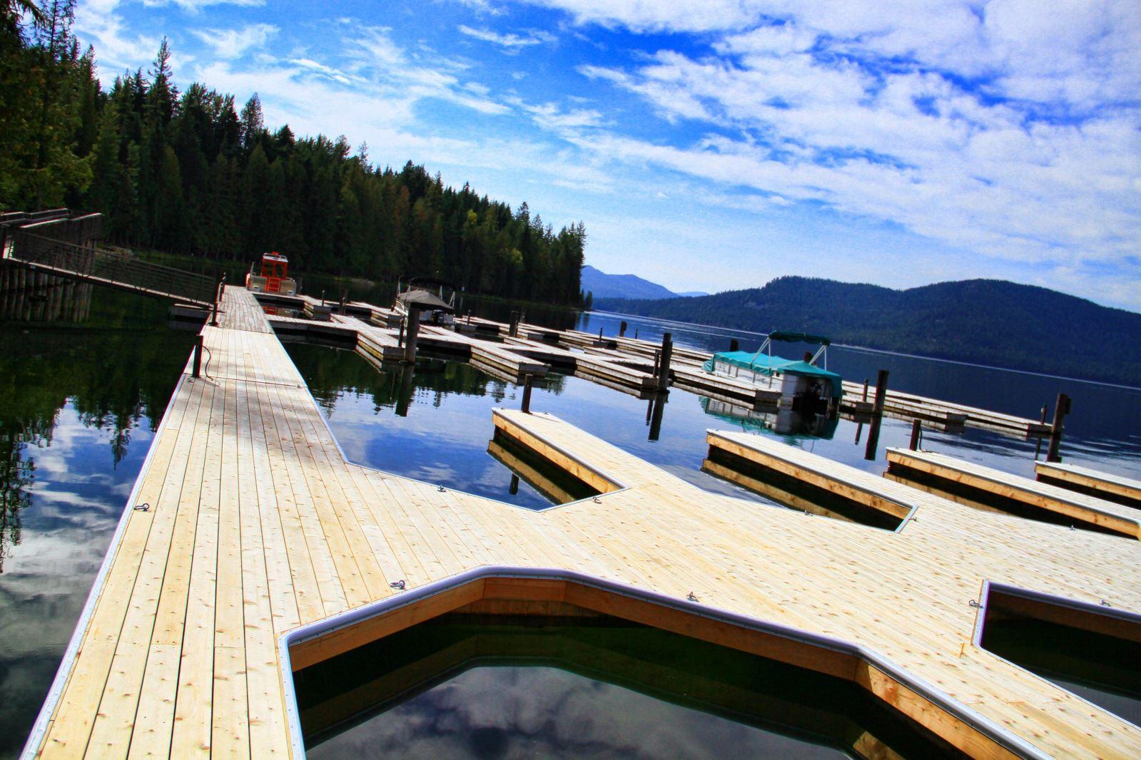 Custom Docks at Priest Lake