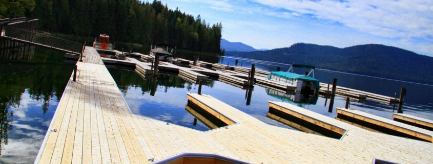 Custom Docks at Priest Lake